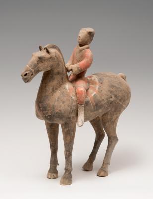 Guerrero a caballo; China, dinastía Han, 206 a.