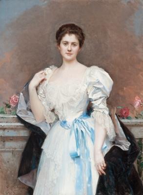 """""""Retrato de la señora Oliver Gould Jennings"""" RAIMUNDO D"""