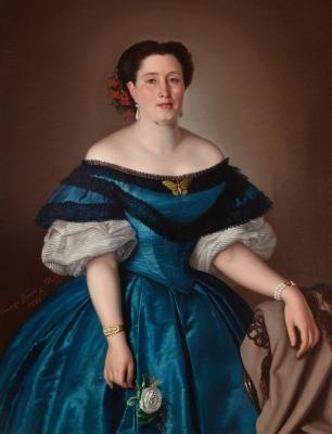 """""""Retrato de dama del romanticismo"""" Domingo García Díaz"""