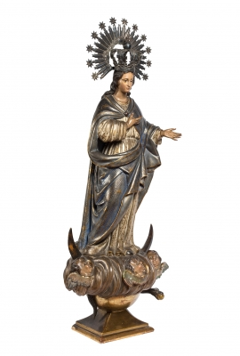 """Inmaculada"" Escuela Española, siglo XVIII."