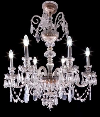 Lámpara de techo; Francia, siglo XX. Vidrio