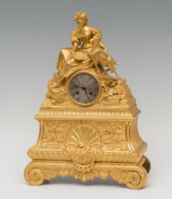 Reloj; Francia, siglo XIX. Bronce dorado al mercurio