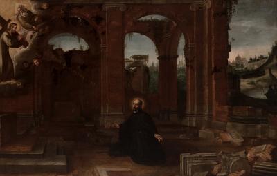 """""""San Ignacio en Storta"""". Atribuido a Vicente Giner"""