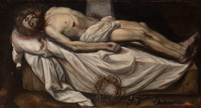 """Cristo yacente"". Escuela española del siglo XVII."