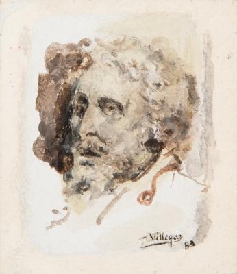"""Retrato"", 1881. VILLEGAS CORDERO, José"