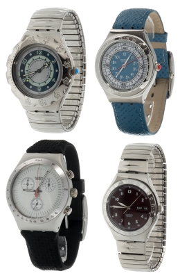 Lote de cuatro relojes SWATCH Irony.
