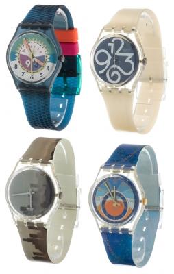 Lote de cuatro relojes SWATCH. Nuevos a estrenar