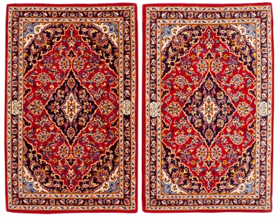 Pareja de alfombras persas.Pareja de alfombras persas