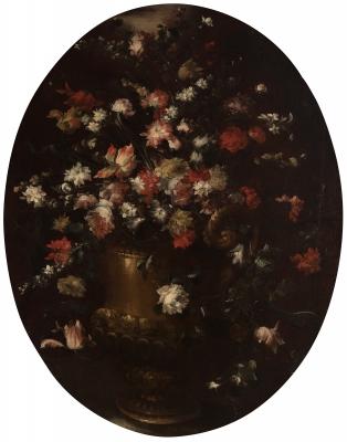 """""""Bodegón con flores"""" Margarita Caffi"""