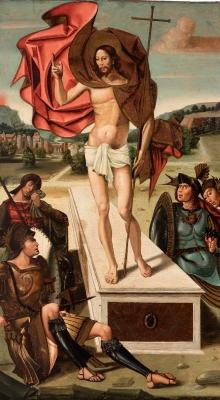 """Resurrección de Cristo"" MAESTRO DE SAN ILDEFONSO"