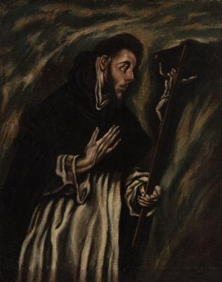 """""""San Francisco"""" Seguidor de """"El Greco"""" Doméniko Theotok"""