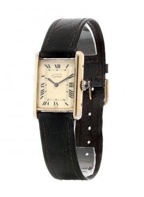 Reloj Must de CARTIER lady. En plata de ley 925 placa