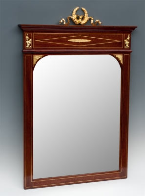 Espejo estilo imperio, finales del siglo XIX. Madera