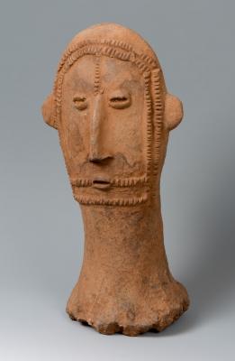 Cabeza. Cultura Bura Asinda-Sikka, siglos IV-X d. C.