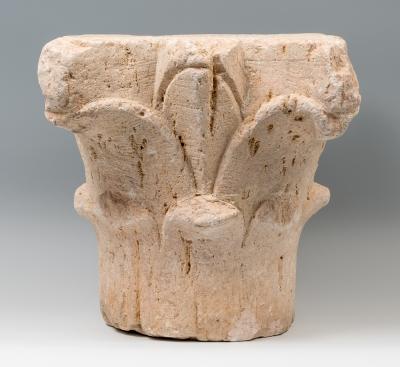 Capitel bizantino, siglos I-VII. Piedra calcárea