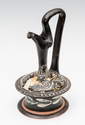 Epiquisis; Gnathia, Magna Grecia, siglo IV a. C