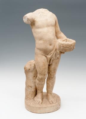 Estatua infantil; Roma, siglos I-II d. C