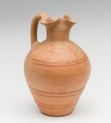 Oinochoe; púnico, siglos IV-III a. C