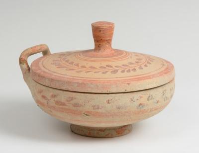 Lekanis. Cultura Dauno-Mesapia, siglo V a. C.