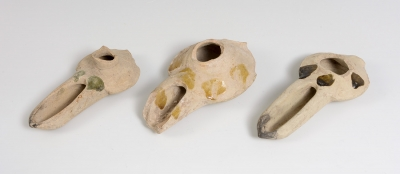 Conjunto de tres candiles. Califato Omeya, siglo X.
