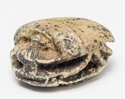 Escarabeo; Egipto, Baja Época,  664-332 a-C. Fayenza