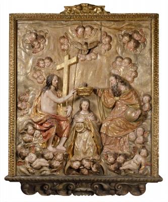 """""""La Coronación de la Virgen"""".Círculo de """"LA ROLDANA"""""""