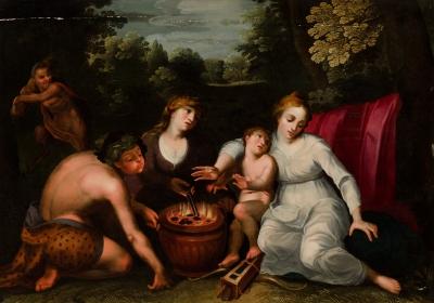 """""""Alegoría del Invierno"""". Círculo de FLORIS, Frans"""