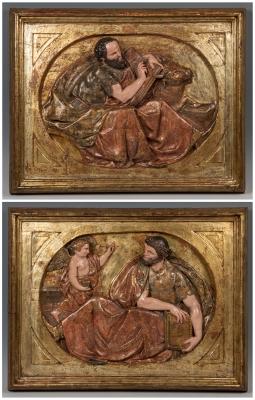 """San Mateo y San Lucas Evangelistas"". Siglo XVI."