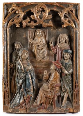 Gothic relief. Germany, late 15th century.