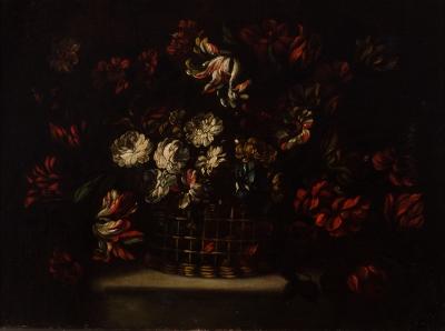 """""""Cestillo de flores"""". Atribuido a CAFFI, Margarita"""