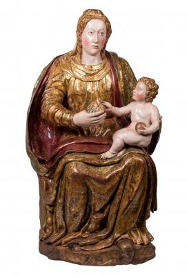 """""""Virgen con el Niño"""" Escuela Castellana, siglo XVI."""