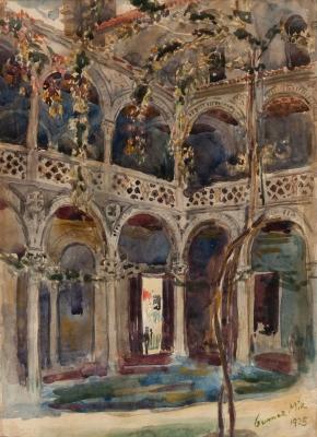 """Patio de Toledo"", 1925. Eugenio Gómez Mir"