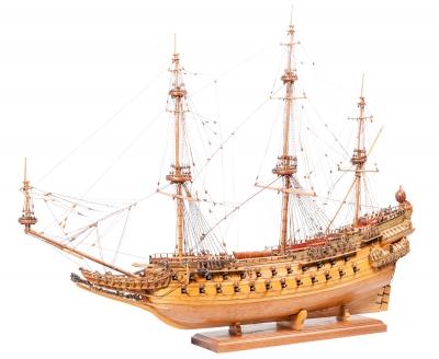 Maqueta de barco, siglo XX. Madera