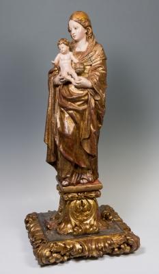 """Virgen con Niño"". Siglo XVI."