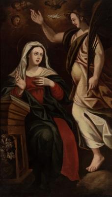 """""""Anunciación de la Virgen"""". Siglo XVII."""