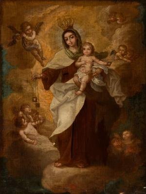 """""""Virgen del Carmen"""". Círculo de TAPIA, Isidoro de"""