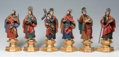 Seis Apóstoles. Escuela centroeuropea del siglo XVIII.