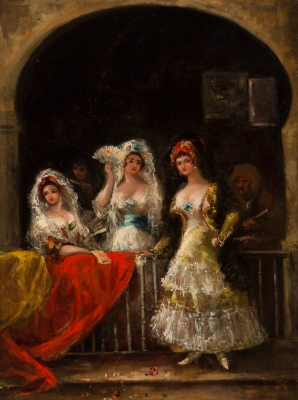 """""""La Celestina y tres muchachas"""""""