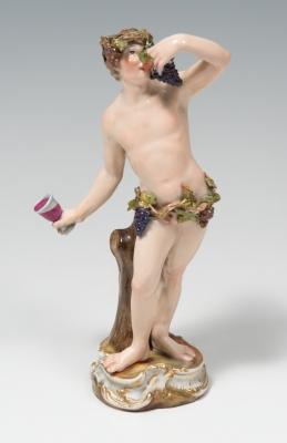 Figura de Baco. MANUFACTURA DE MEISSEN, siglo XIX.