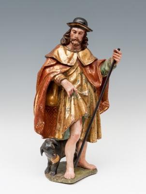 """""""San Roque"""". Escuela castellana, hacia 1600."""