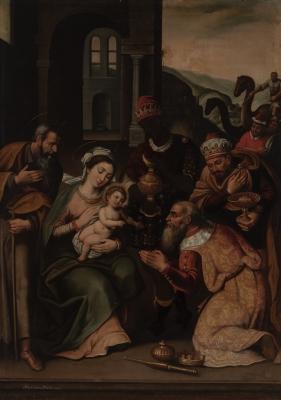 """""""Adoración de los Magos"""". Anónimo toledano, h1600."""