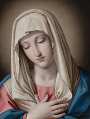 """Madonna"" Atribuido a Giovanni Battista Salvi ""Il Sasso"