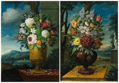 """""""Jarrón con flores ante paisaje"""" Atribuido a Jan Frans Van Dael"""