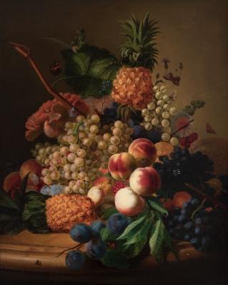 """""""Naturaleza muerta con frutas"""". Jan Frans van Dael"""
