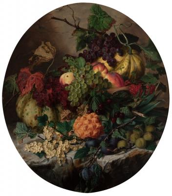 """Bodegón de frutas"" GEORGIUS JACOBUS JOHANNES VAN OS"