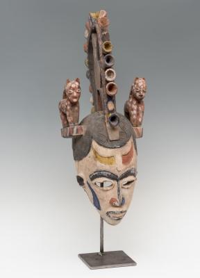 Máscara del pueblo Igbo; Nigeria, primera mitad del siglo XX.