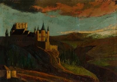 """""""Vista del Alcázar de Segovia"""", 1913."""