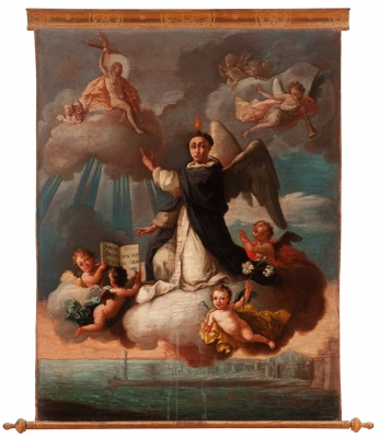 """San Vicente Ferrer"" Escuela colonial, siglo XVIII."