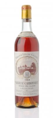 Botella Château Carbonnieux, Grand Cru Classè, 1963.