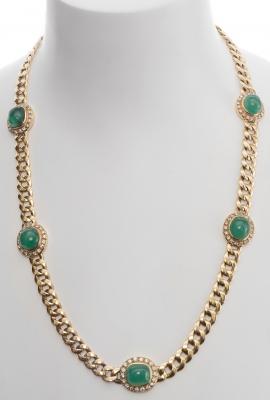 Collar realizado en oro amarillo de 18kts. Cadena de